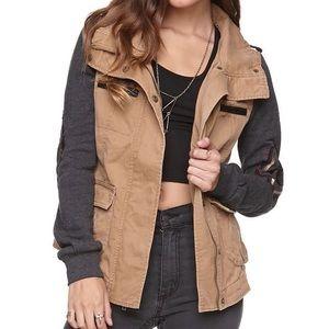 LA Hearts Tan Military Jacket